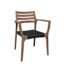 KAREN krzesło ogrodowe BRĄZ/CZARNY