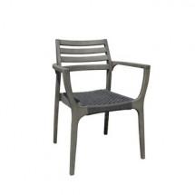 KAREN krzesło ogrodowe SZARE