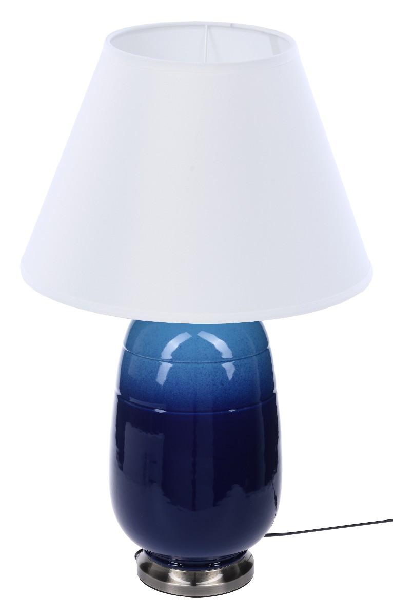 LAMPA STOŁOWA Z ABAŻUREM MAYFAIR BLUE 23X23X51CM