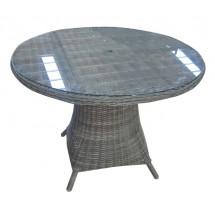 CAPRI stół ze szkłem z technorattanu