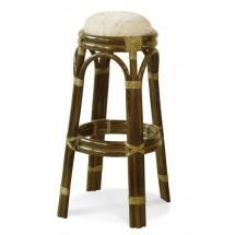 Hocker rattanowy 04/22 Krzesło barowe - kolor oliwkowy