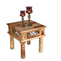 Stolik drewniany INDIE IN/124-B beżowy