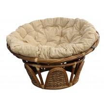 Fotel rattanowy papasan z hiacyntem wodnym JC-20