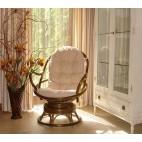 Fotel bujano-obrotowy 05/01 - aranżacja w kolorze oliwkowym