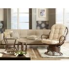 Fotel bujano-obrotowy 05/01 - aranżacja w kolorze brązowym