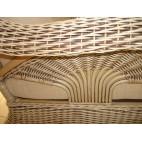 Fotel rattanowy - naturalny rattan WB/01 - zblizenie plecionek
