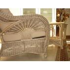 Fotel rattanowy - naturalny rattan WB/01 - widok boku fotela