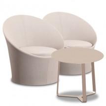 Zestaw ogrodowy Lisbon PIASKOWY ( 2 fotele + stolik )