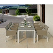 Stół ogrodowy FARO/Lisbon (biały) 152cm