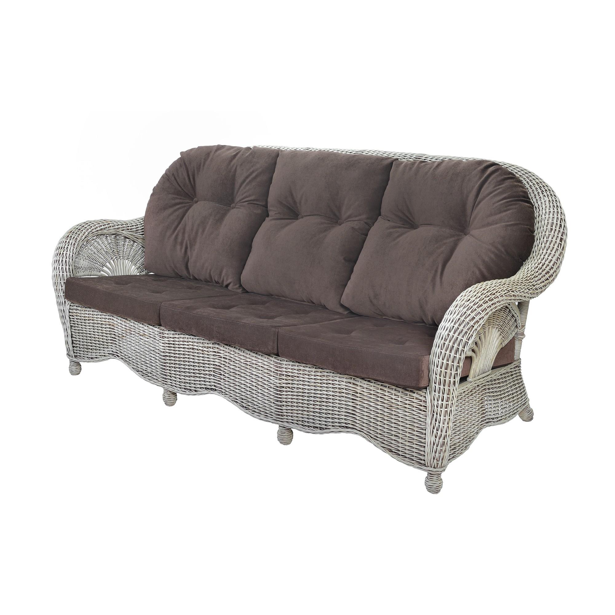 Sofa rattanowa 3-os Dolce Vita